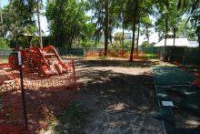 Chapman Healing Garden construction