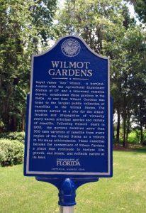 Wilmot Gardens historical marker