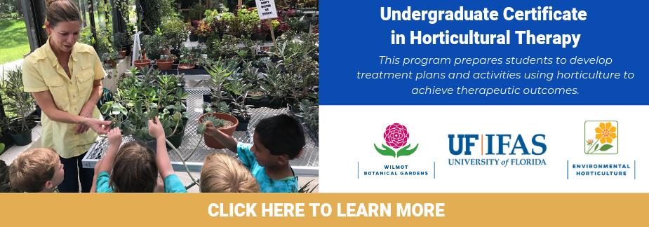 Undergraduate Certificate in Horticulture